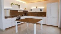 Cucina in frassino patinata bianco