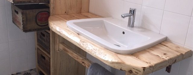 bagno vintage su misura lucidato al naturale